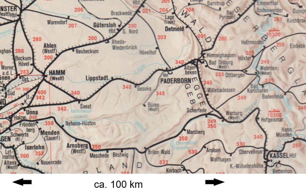 Barriere zwischen Westfalen und Hochsauerland