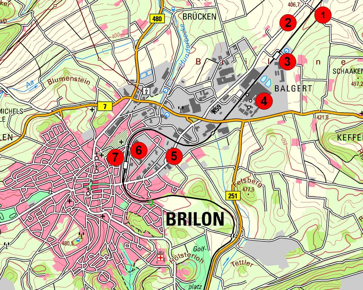 Brilon Galeriekarte