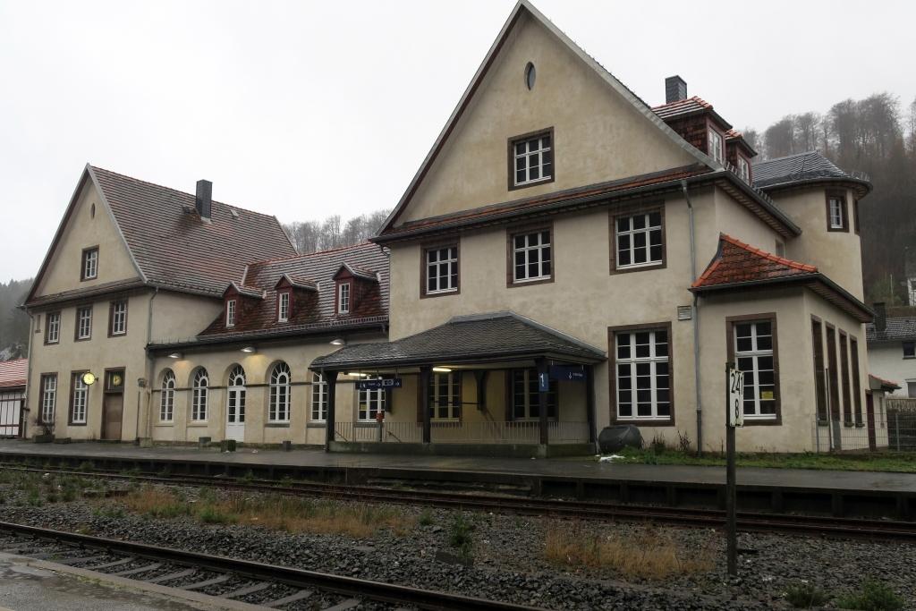 Bahnhof Brilon Wald in der Renovierung