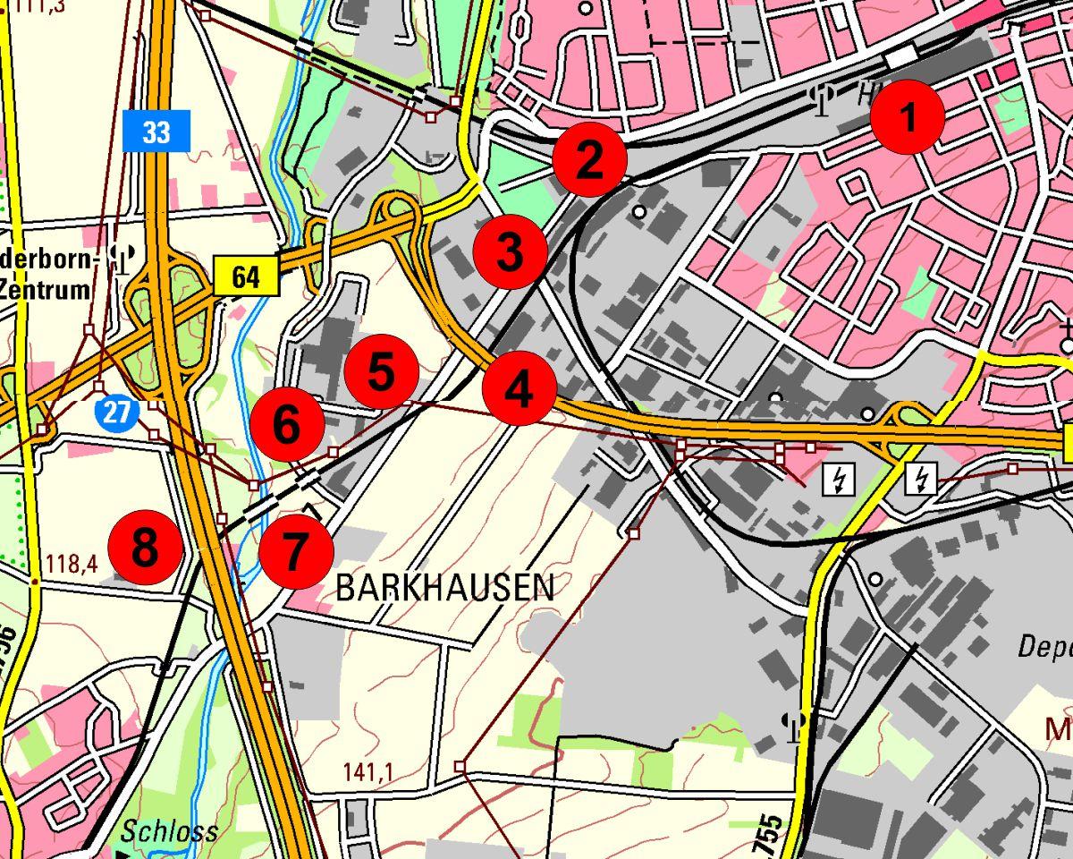 Paderborn Gareriekarte