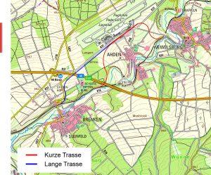 Karte Neubaustrecke