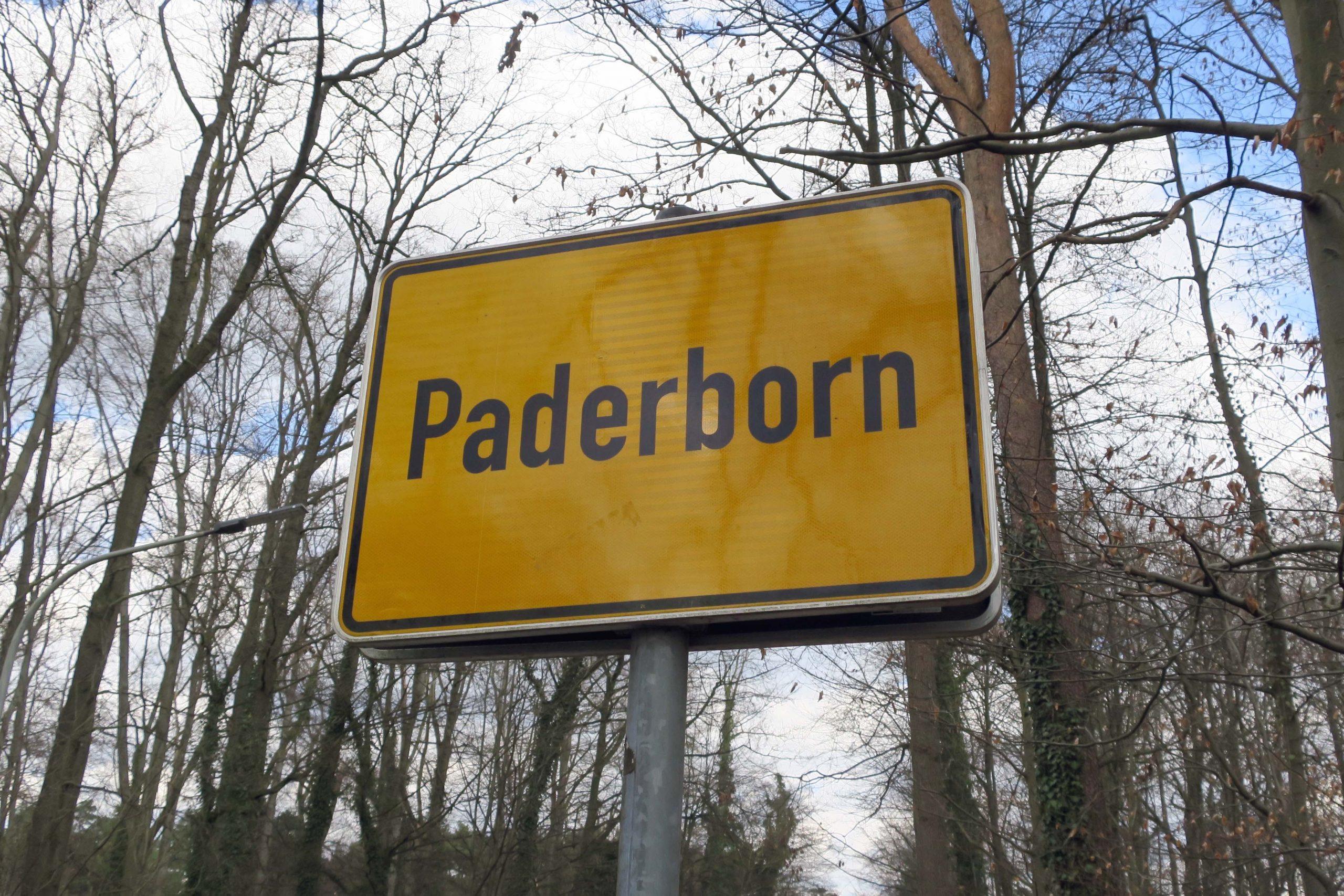 Ortsschild von Paderborn