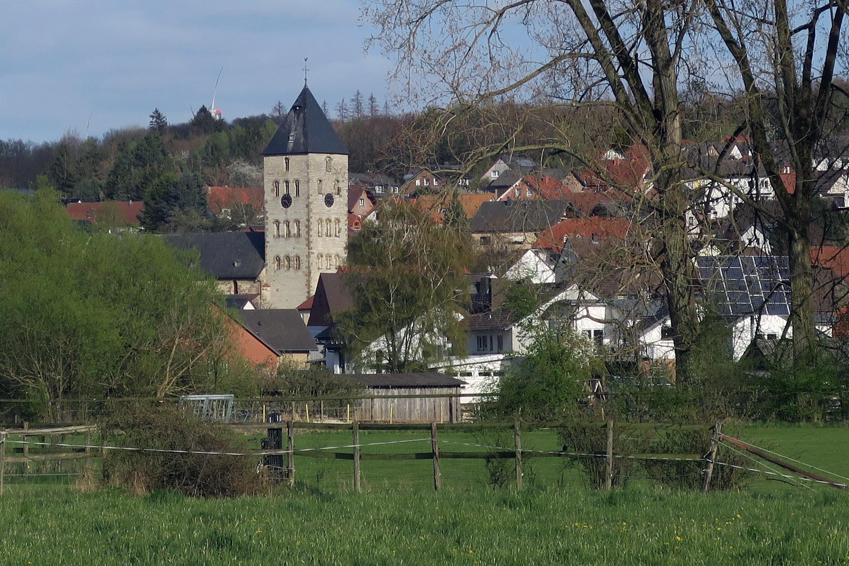 Blick auf die Ortschaft Brenken